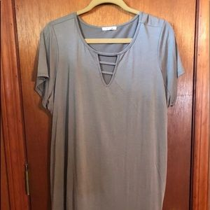 Maurices Strappy Olive Green SS Top